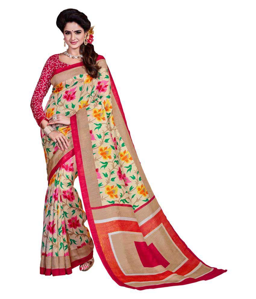 AJS Multicoloured Art Silk Saree