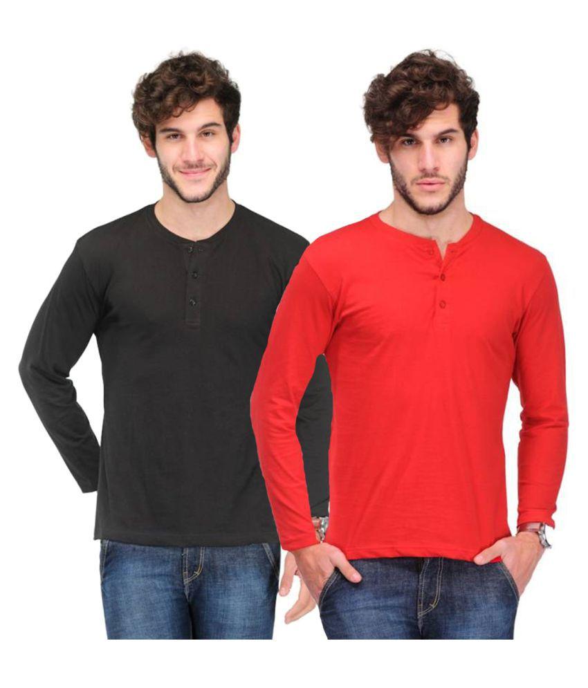Van Galis Multi Henley T-Shirt Pack of 2