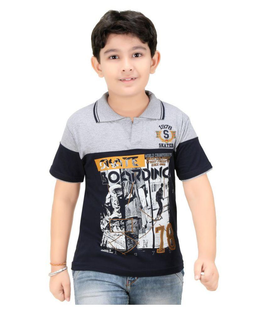 e25d1feb Colour Kids Boys Printed Polo T-Shirts - Buy Colour Kids Boys Printed Polo T -Shirts Online at Low Price - Snapdeal
