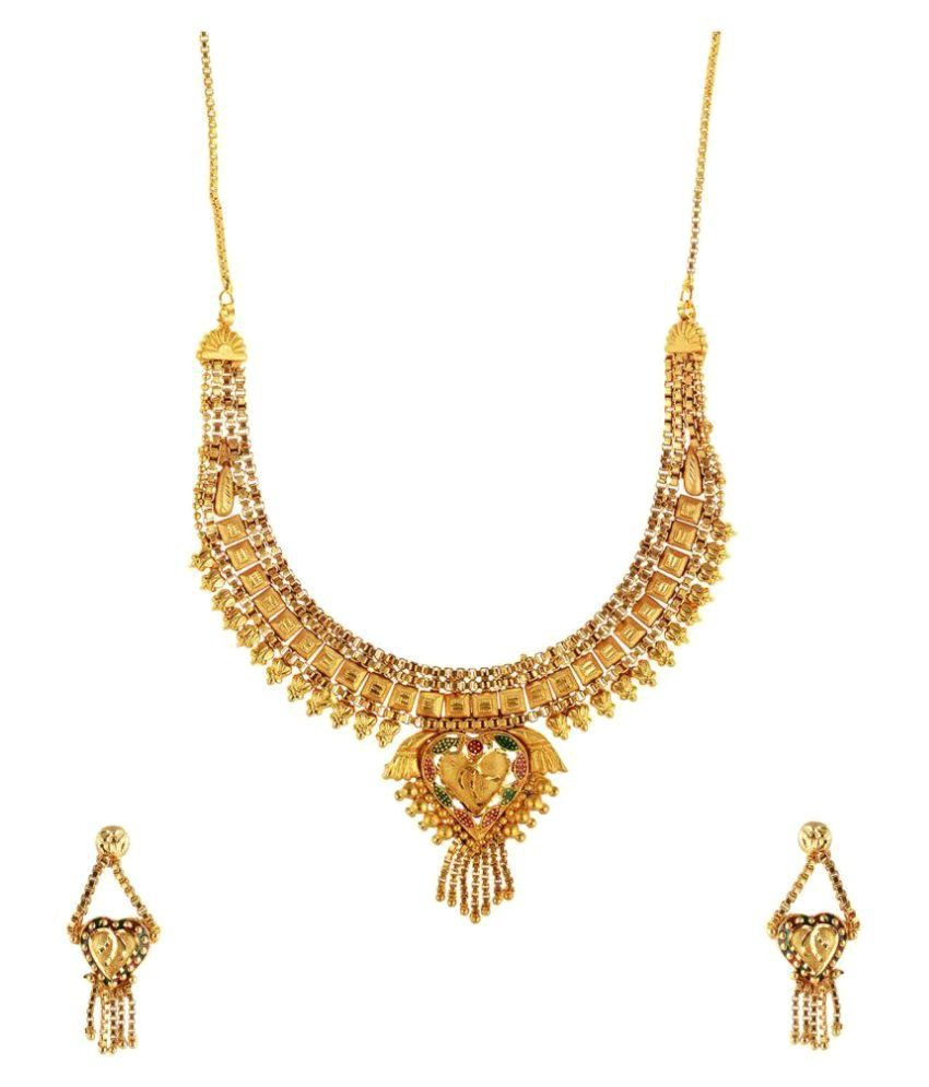 Fashion Bazaar Golden Brass Necklace & Sets