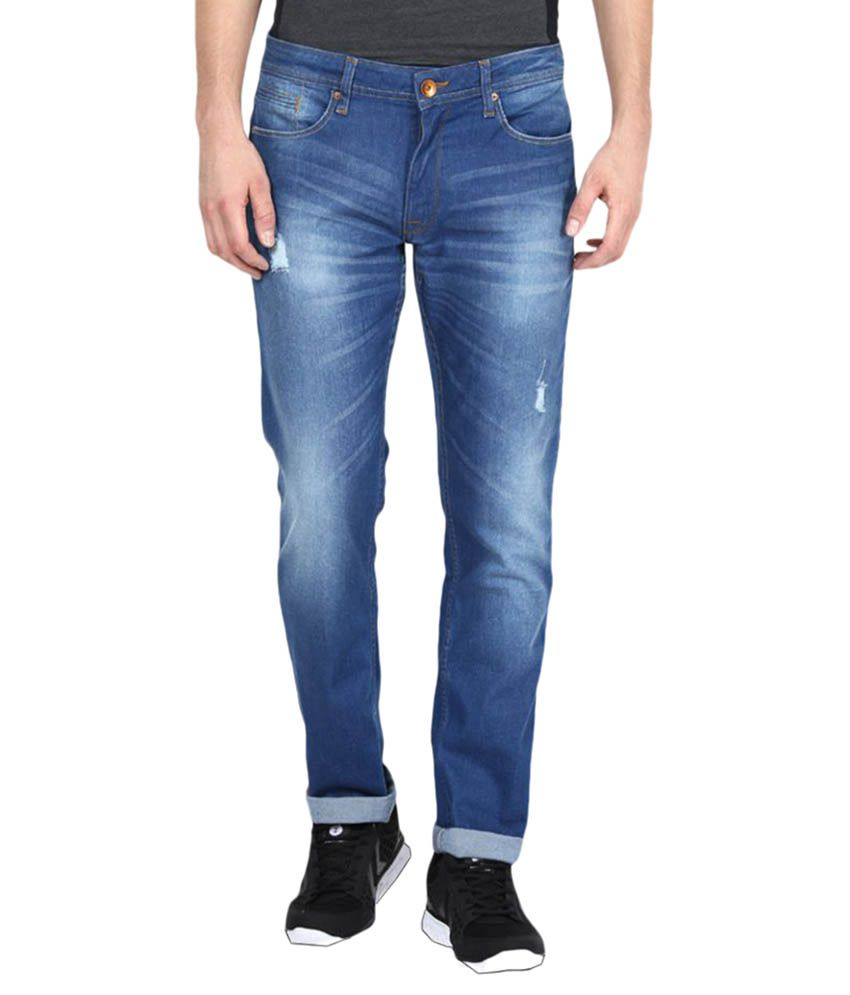United Colors of Benetton Dark Blue Skinny Faded