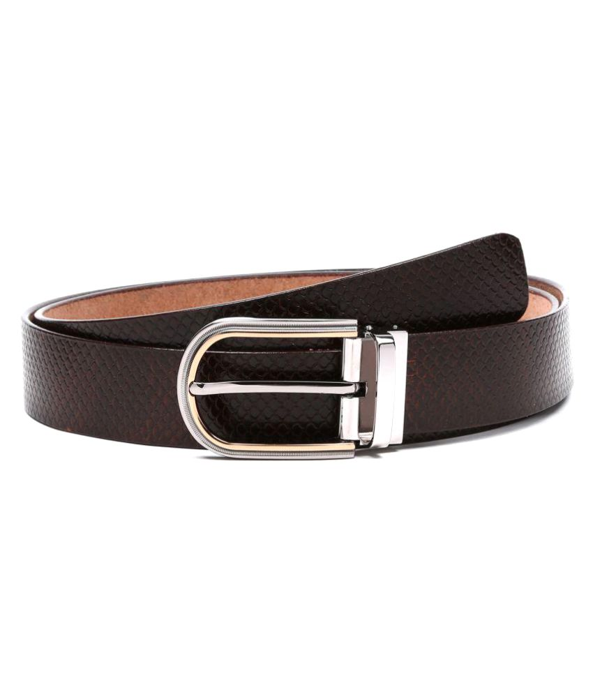 Dhide Designs Brown Leather Casual Belts