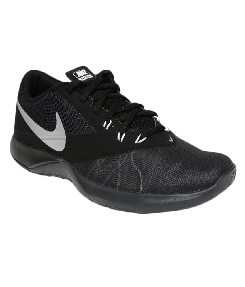 sale retailer 6fd4e 742e1 Nike FS Lite Trainer 4 Black Training Shoes - Buy Nike FS Lite Trainer 4  Black Training Shoes Online at Best Prices in India on Snapdeal