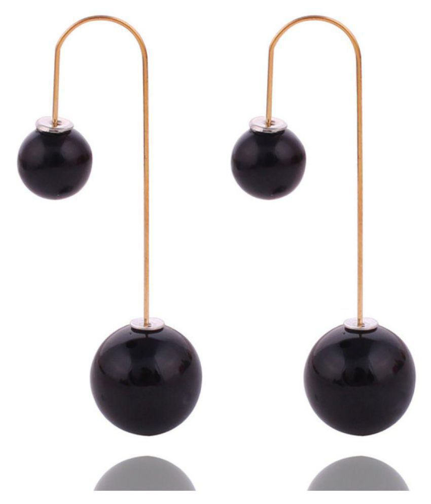 Samyak Double Sided Black Stud earrings