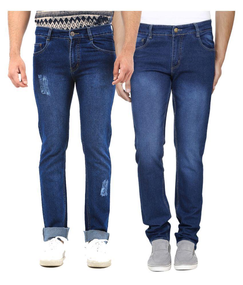 Van Galis Blue Regular Fit Distressed
