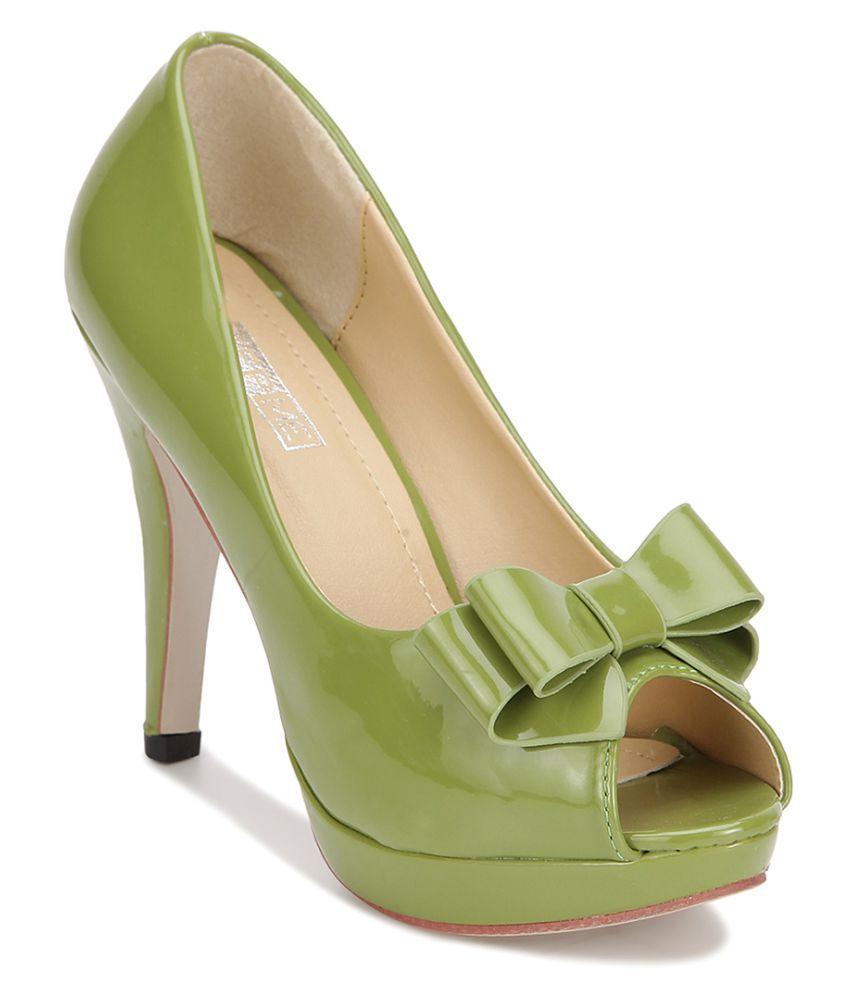 Yepme Green Stiletto Heels