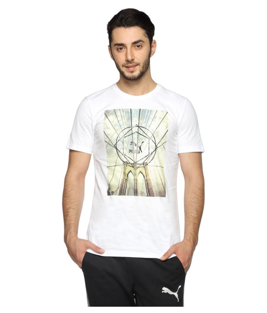 Puma White Cotton T-Shirt Single Pack
