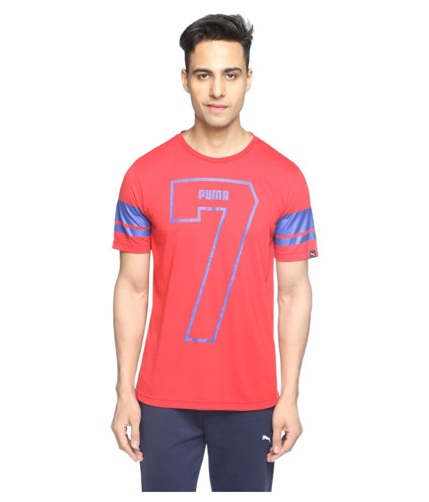Puma Red Polyester T-Shirt Single Pack
