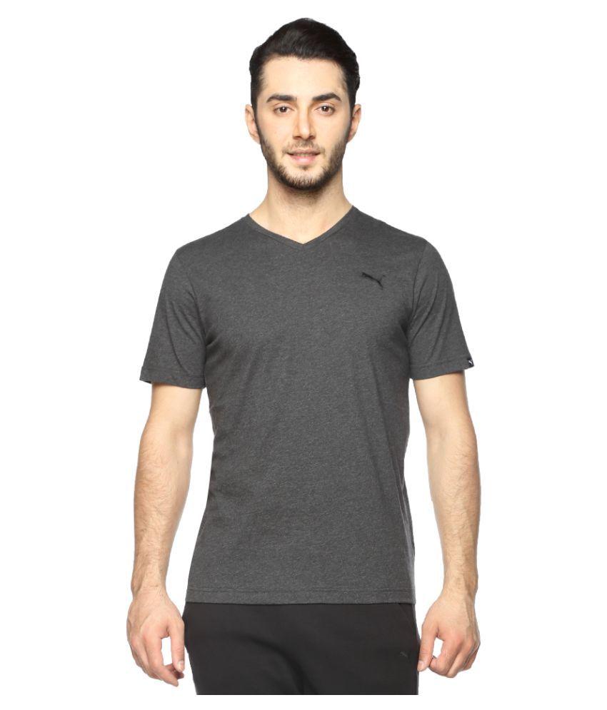 Puma Grey Cotton T-Shirt Single Pack