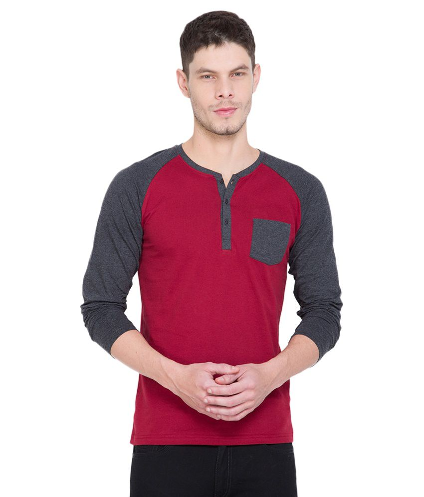 Highlander Red Henley T-Shirt
