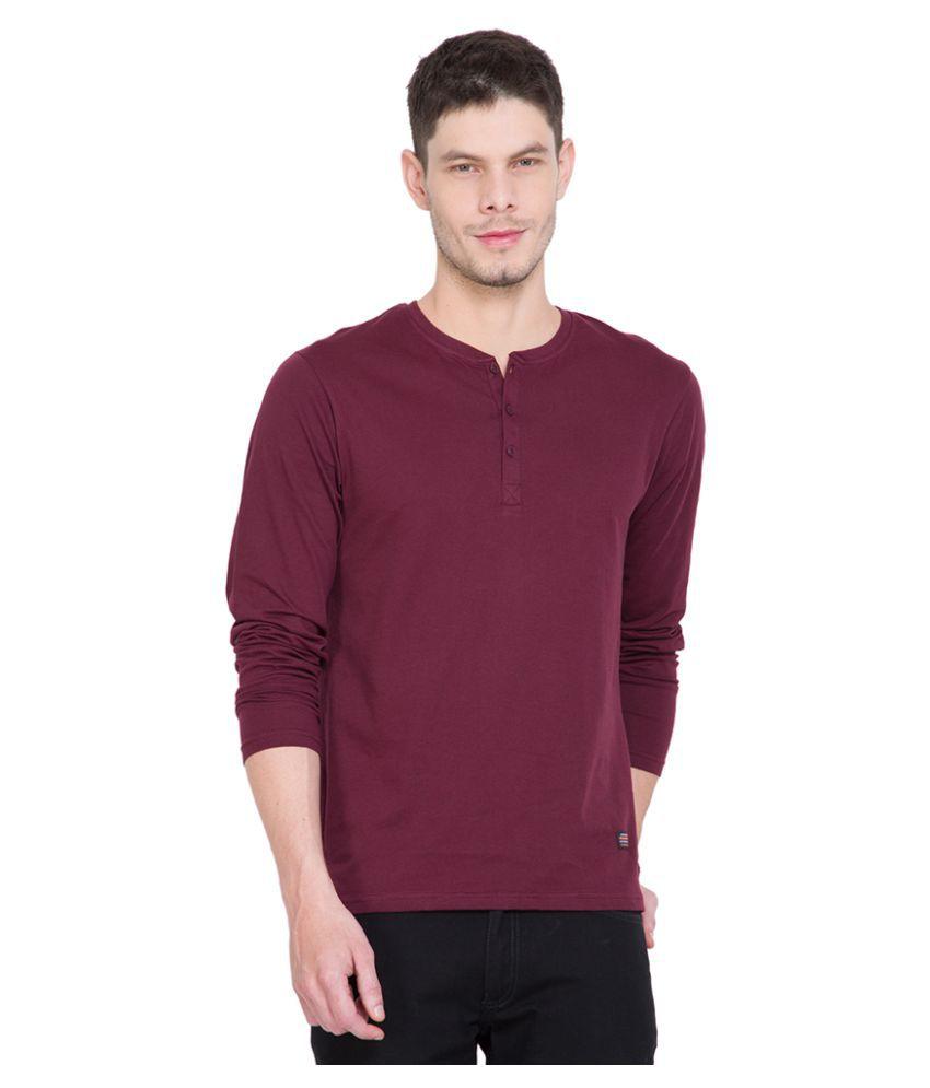 Highlander Maroon Henley T-Shirt