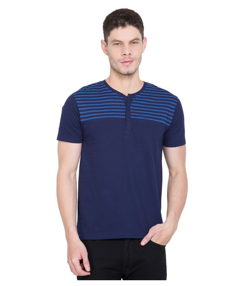Highlander Navy Henley T-Shirt