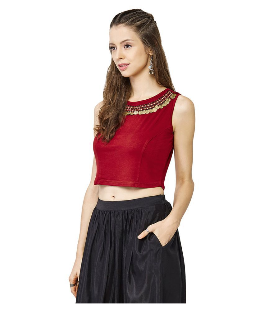 b7ddea503e3f7 Global Desi Polyester Crop Tops - Buy Global Desi Polyester Crop ...
