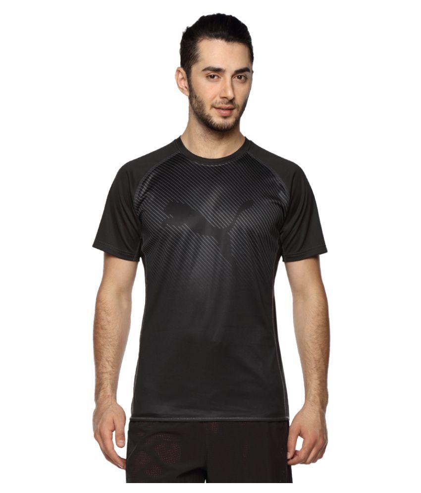 Puma Black Polyester T-Shirt Single Pack