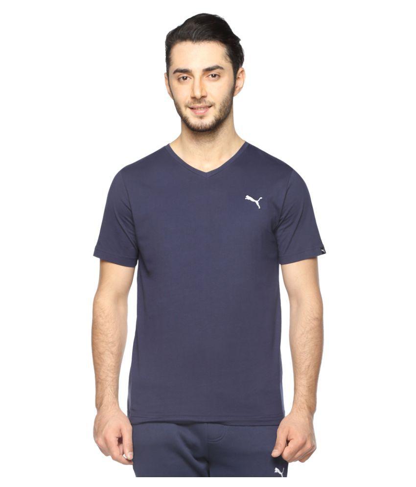 Puma Blue Cotton T-Shirt Single Pack
