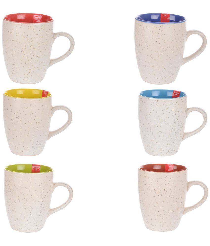 PFU Mart Ceramic Milk Mug 6 Pcs 260 ml