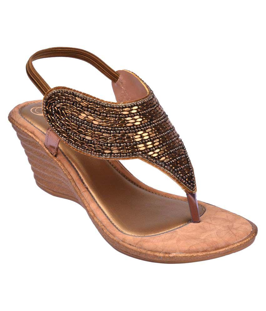 Jade Brown Wedges Heels