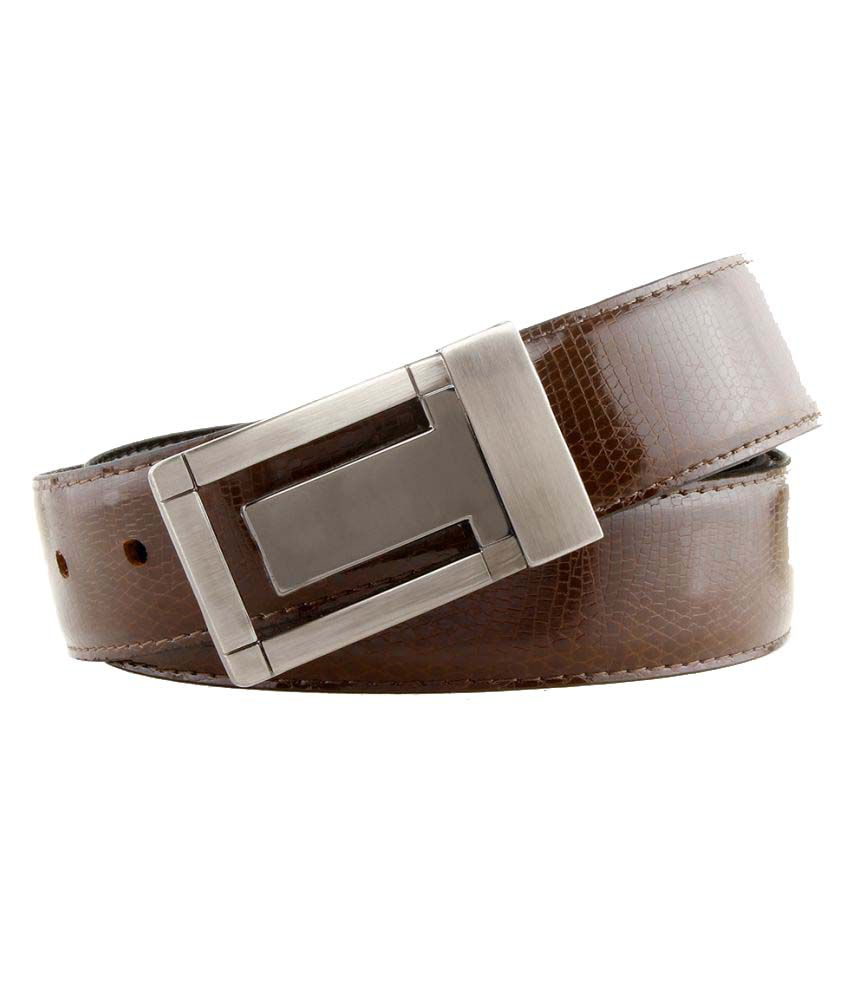Rhino Brown Leather Casual Belts