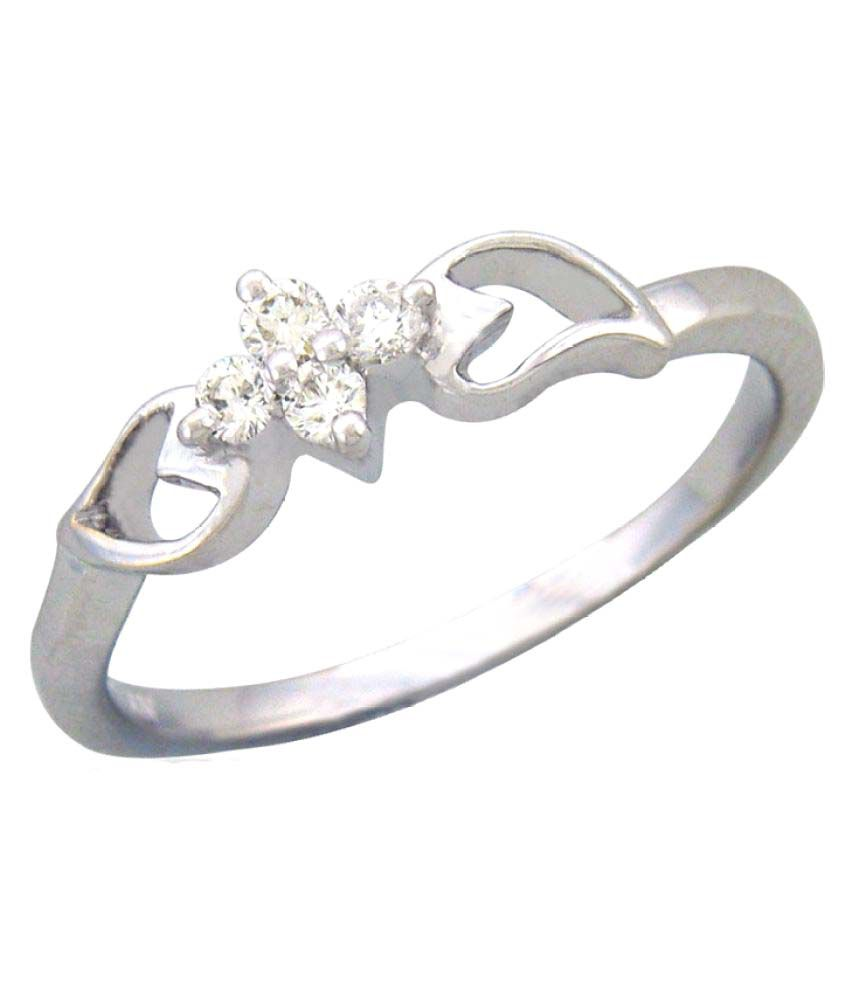 Sparkles 9K White Gold Diamond Ring