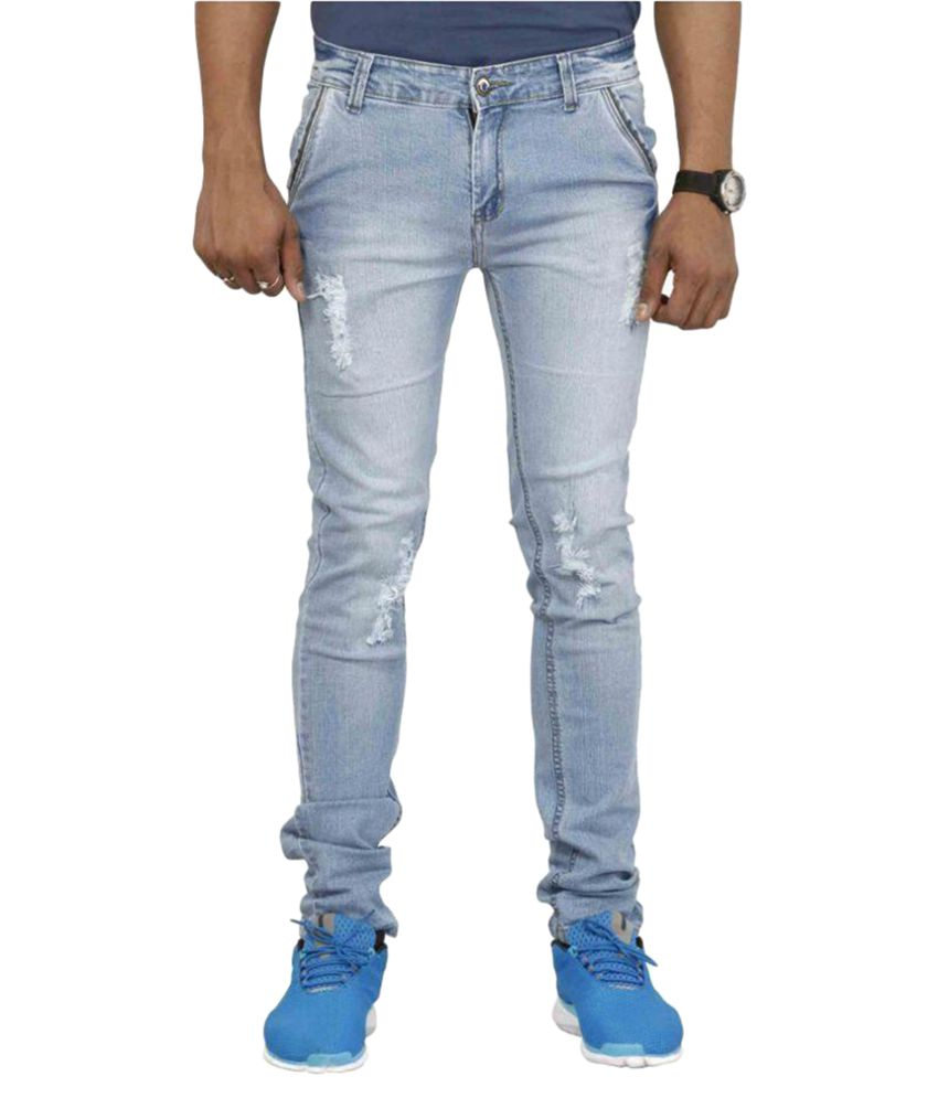 Jaxom Premium Blue Slim Distressed