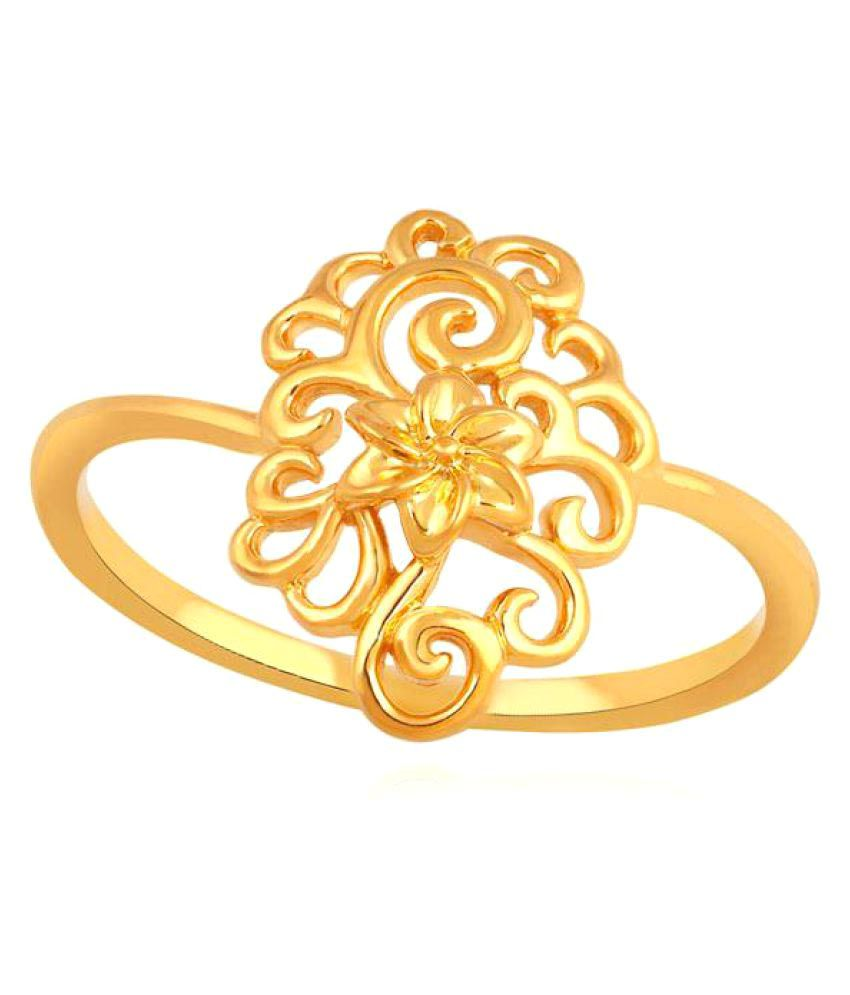 Maya Gold 22k Yellow Gold Cubic zirconia Ring