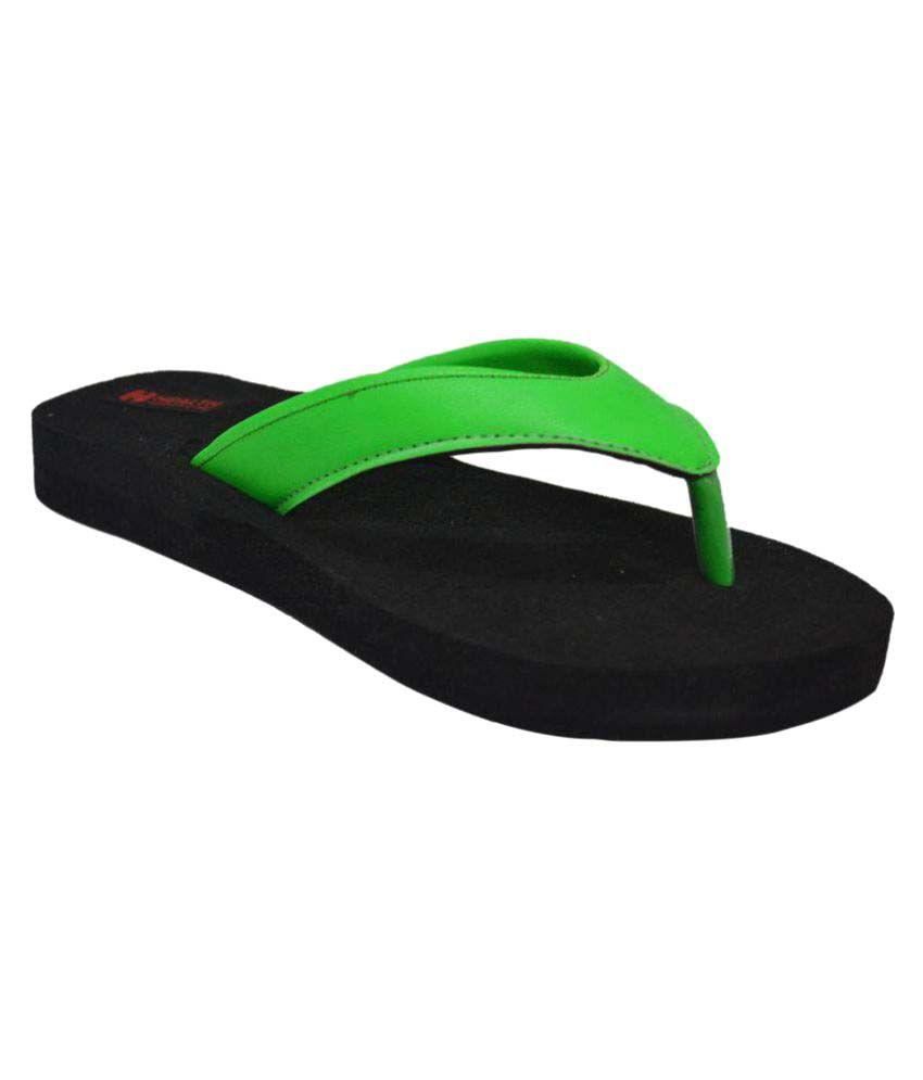 Health Line Green Slippers
