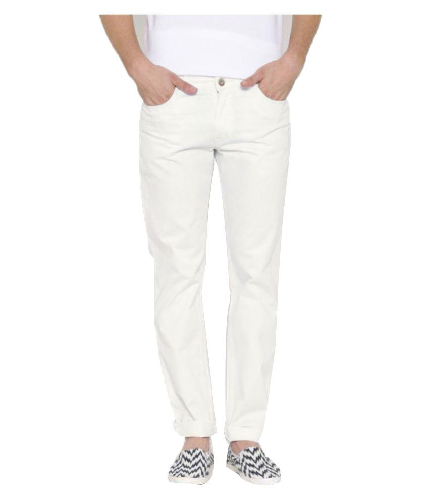 Hubberholme White Regular Fit Washed