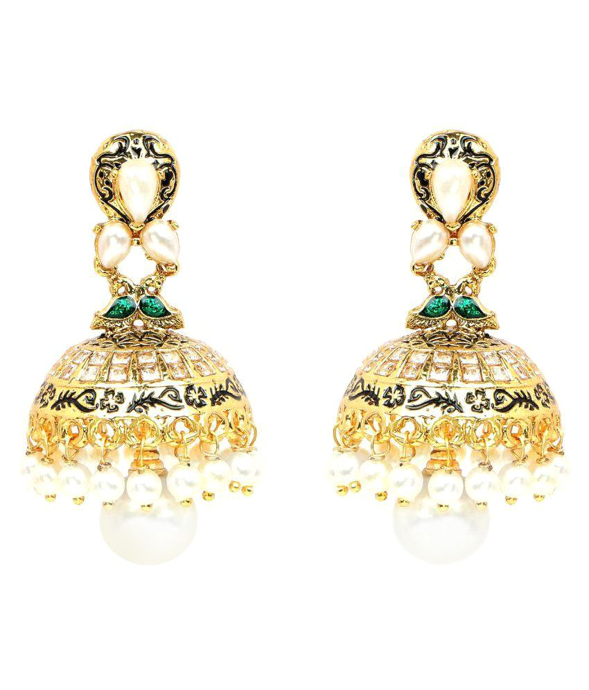 Johareez Pearl Gold Plated Earrings