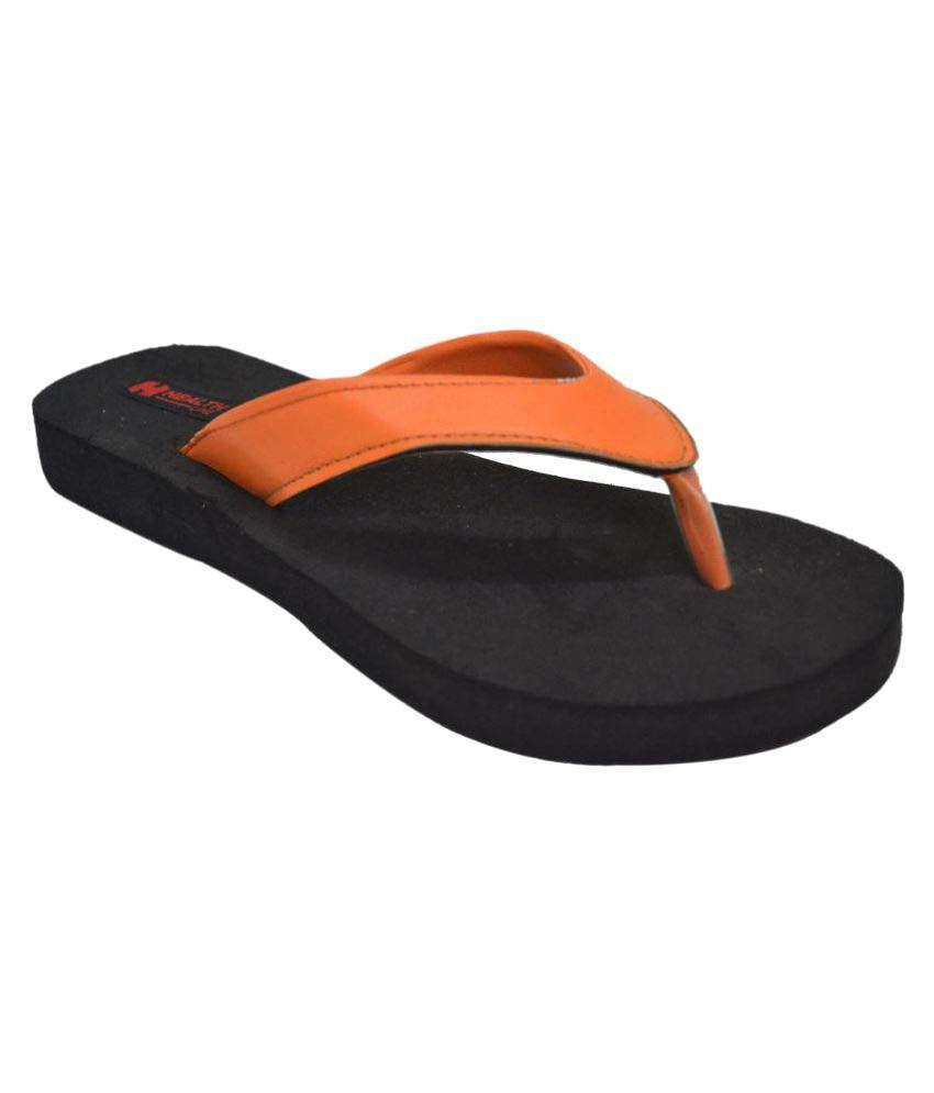 Health Line Orange Slippers