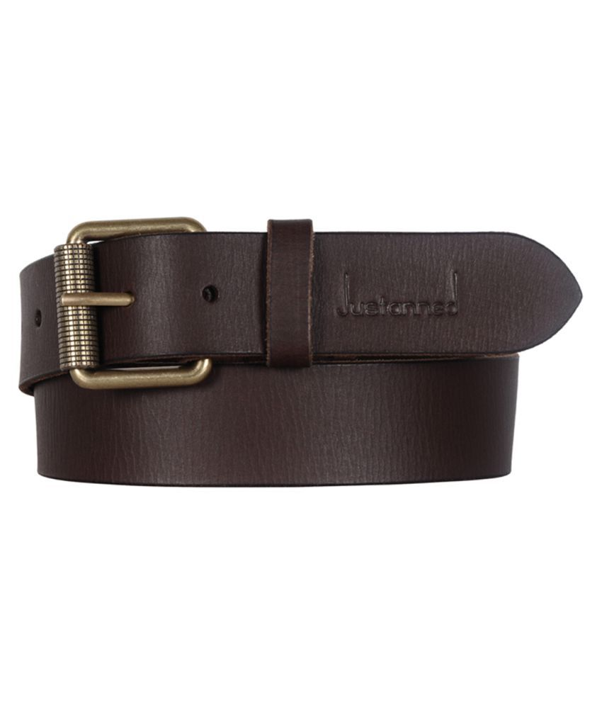 Justanned Brown Leather Casual Belts