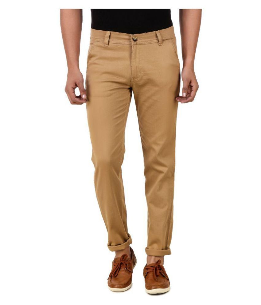 Montare Club Khaki Regular Flat Trouser