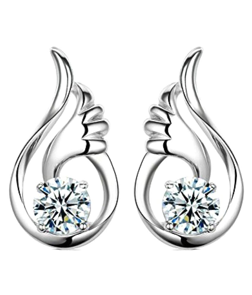 Shining Diva Fashion Angel Wings Fancy Party Wear Stud Earrings for Girls