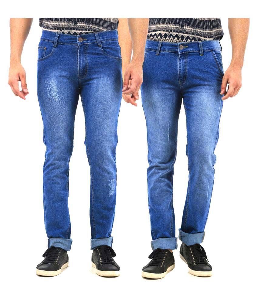 Van Galis Blue Regular Fit Faded