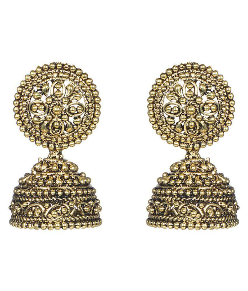 A K Creation Metal Alloy Jhumki Earring