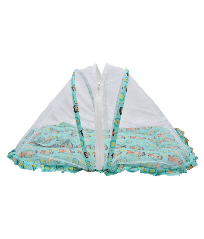 Chhota Bheem Green Baby Mosquito Net Bed Cum Sleeping Bag, Bed For Just Born Baby.