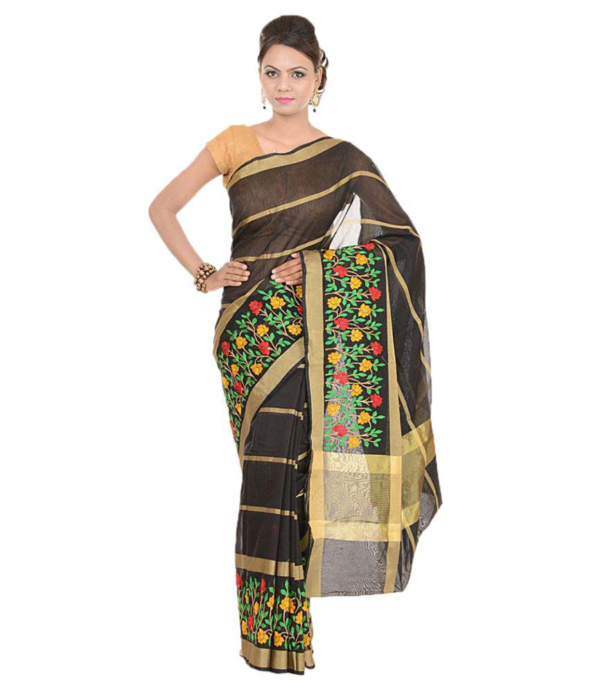 Kdc Sarees Multicoloured Organza Saree