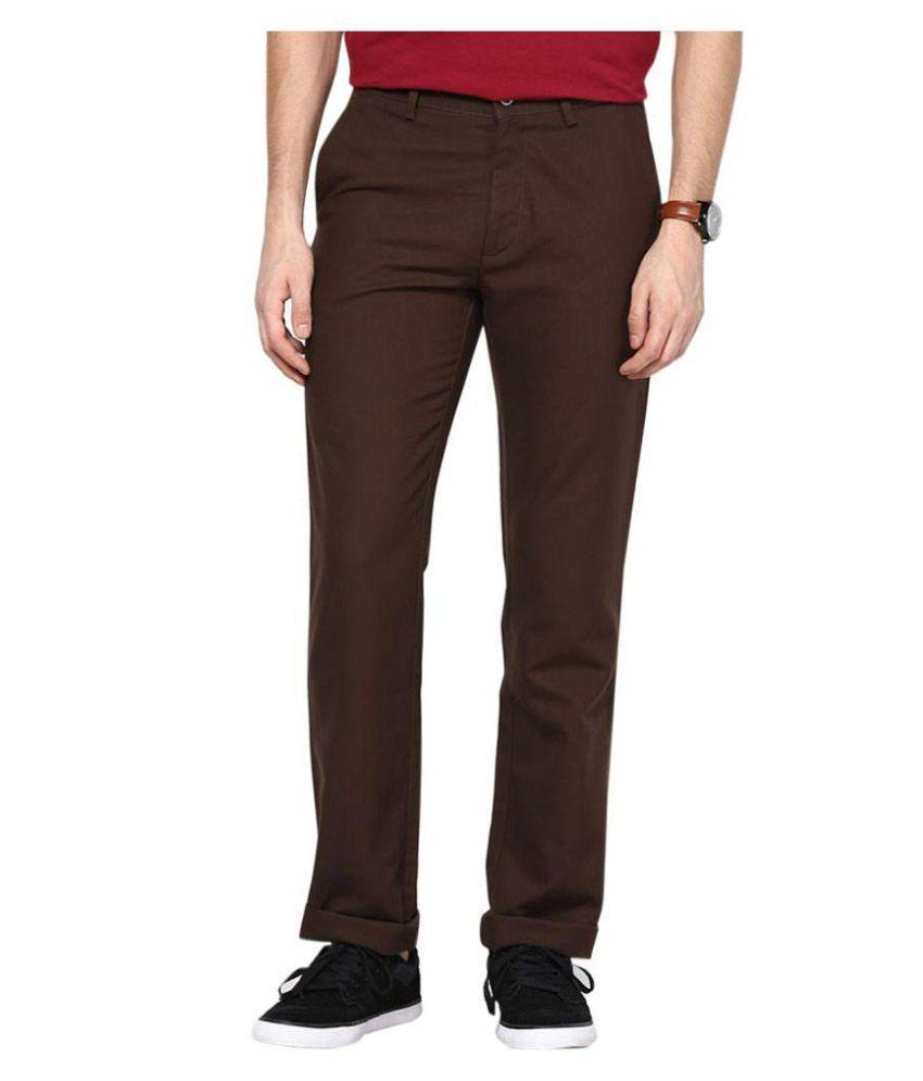 AD & AV Coffee Regular Flat Trouser