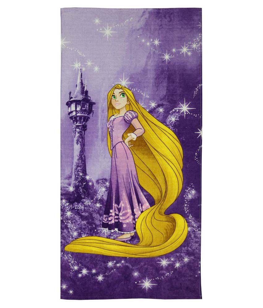 Spaces Single Terry Bath Towel Purple