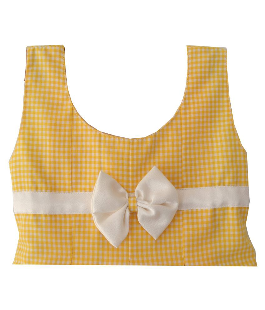 f9ef8a942 Lolly Poppiez Yellow Check Box Pleated Baby Dress - Buy Lolly ...