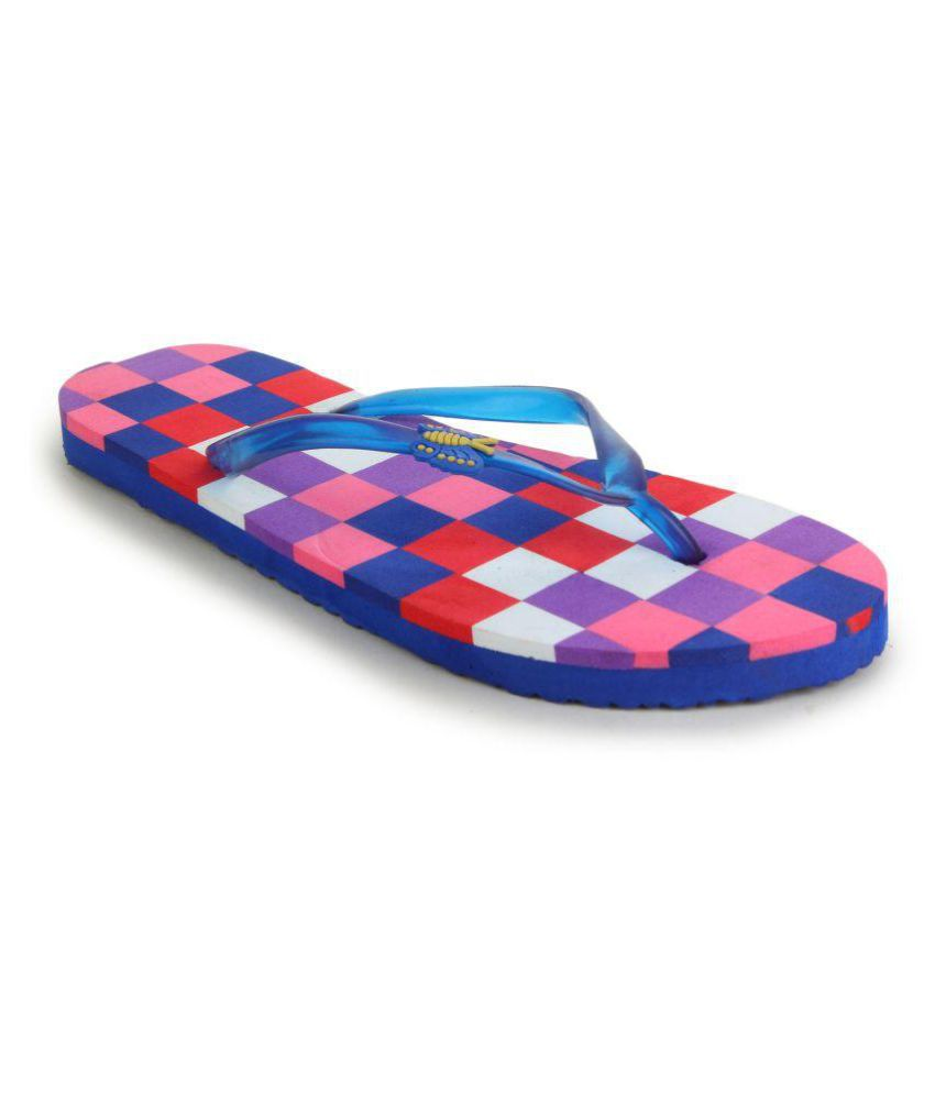 Shoez Hub Blue Slippers