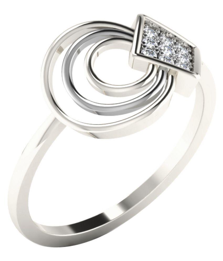 His & Her 9K White Gold Diamond Ring