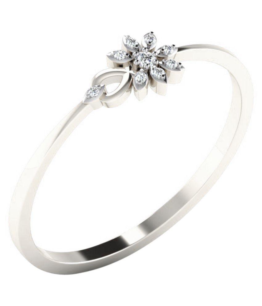His & Her 18K White Gold Diamond Ring