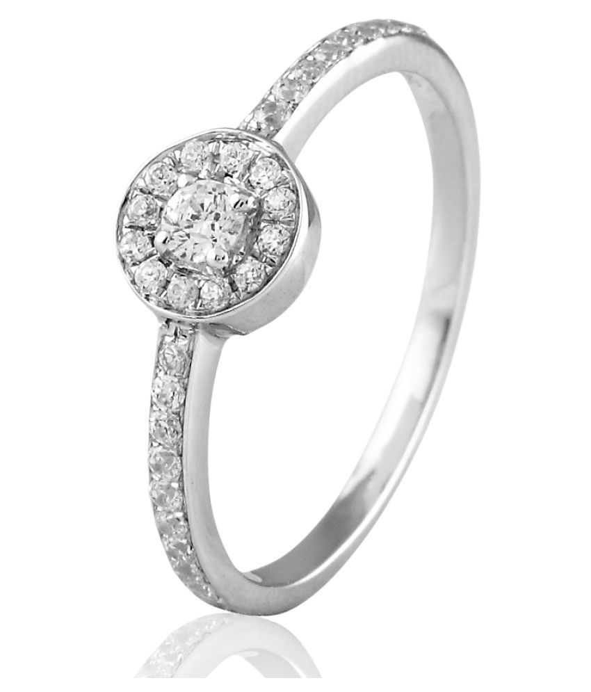 Sparkles 18K White Gold Diamond Ring