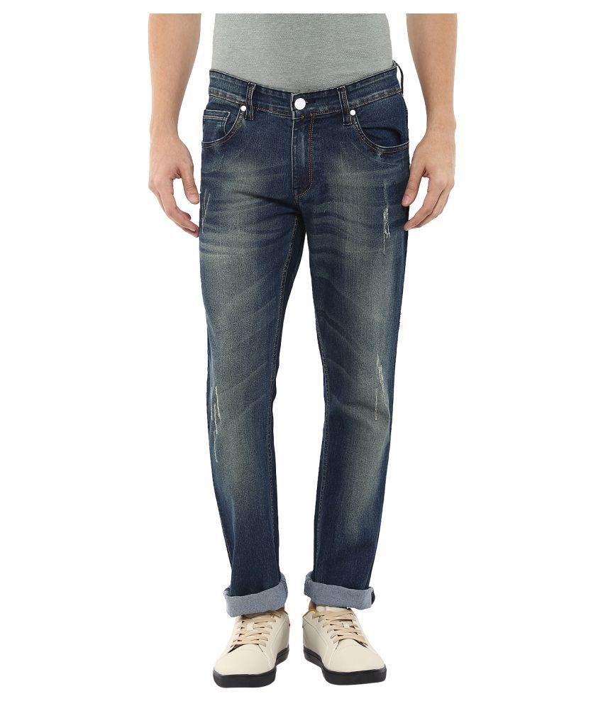 11Cent Dark Blue Slim Washed Men's Jeans