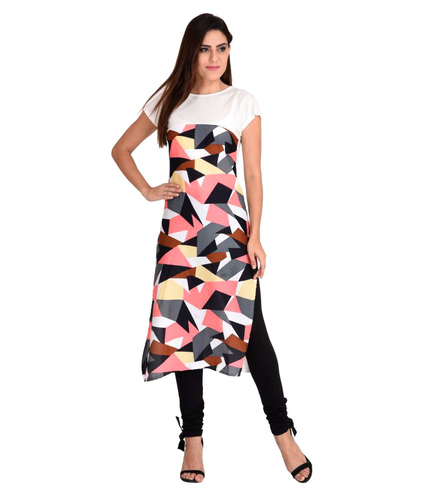Harshaya G Multicoloured Crepe Straight Kurti