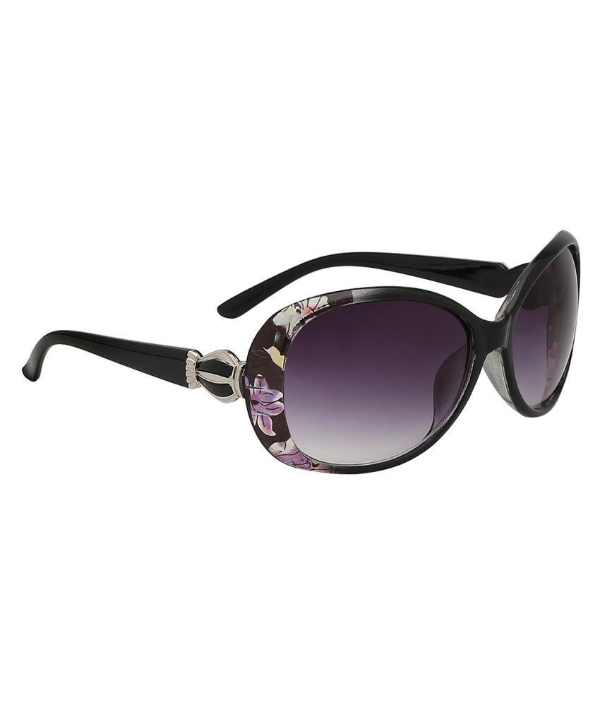 Olvin Grey Oval Sunglasses ( OL323-01 )