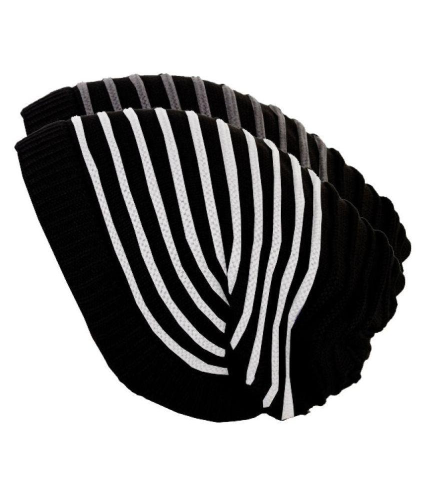 T-Sword Black Striped Wool Caps