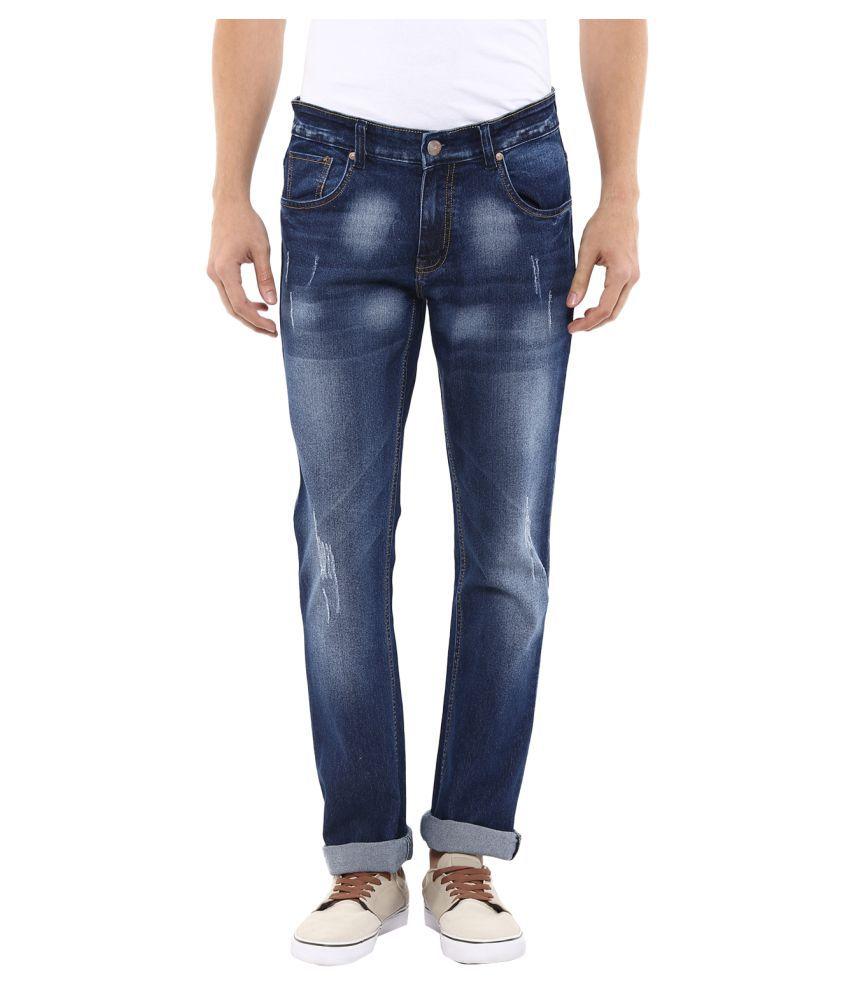 11cent Blue Slim Washed Jeans