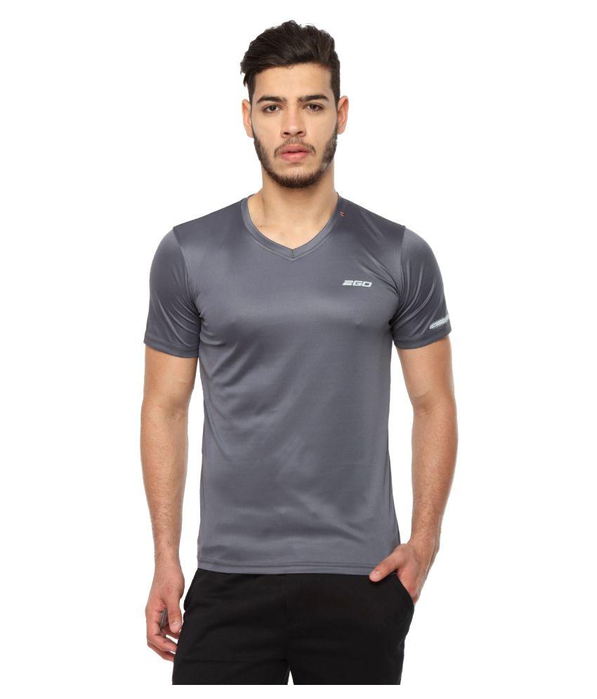 2go Grey V-Neck T-Shirt