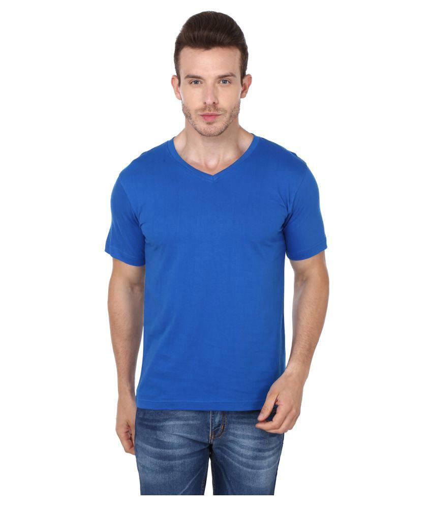 99tshirts Blue V-Neck T-Shirt
